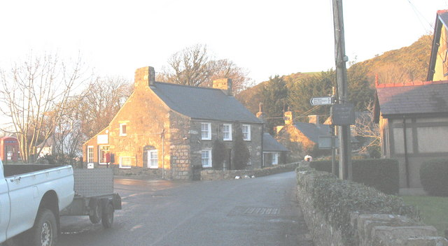 The Llangian Post Office at the village crossroads