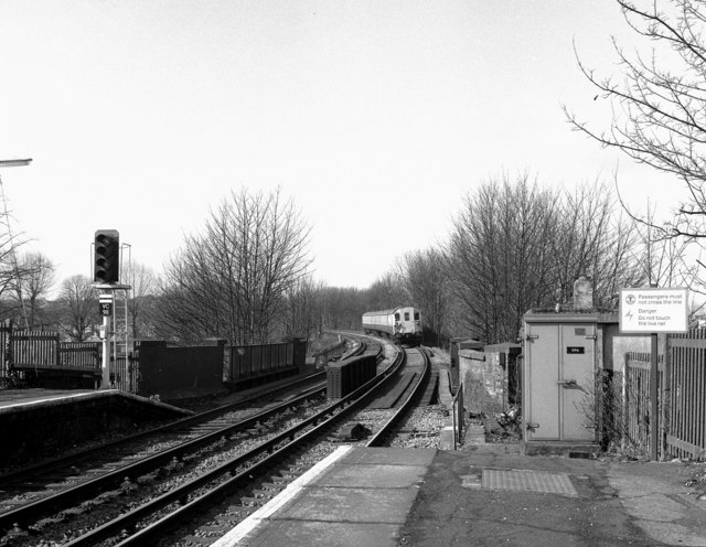 Looking west from Carshalton station