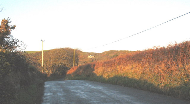 The road to Llangian