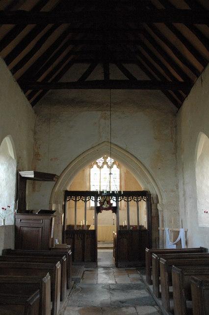 Interior of Hailes church