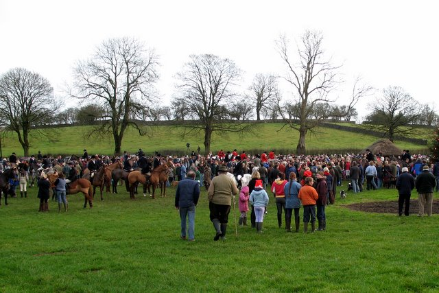 Priddy Green - the Boxing Day Hunt 2007