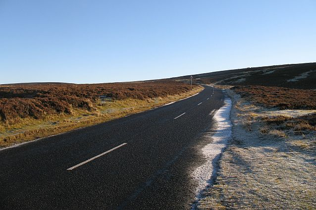 B6355, Lammermuir escarpment