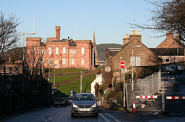 Culduthel Road and Inverness Castle