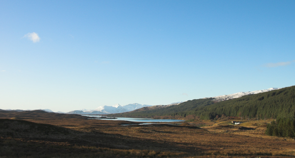 View down Loch Laidon from Rannoch Station