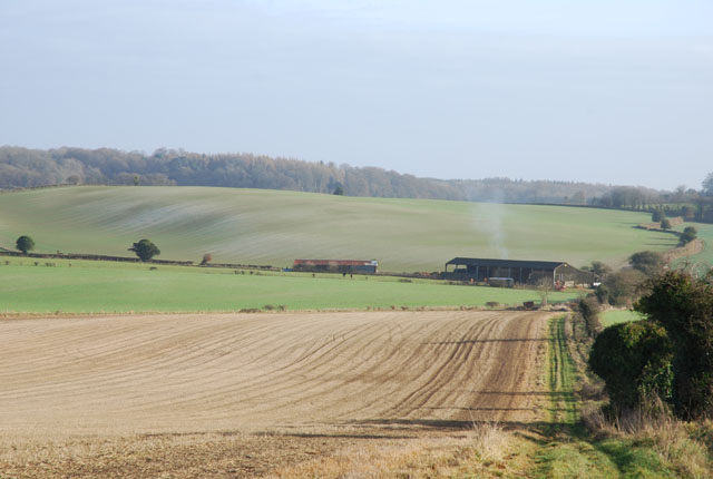 View of farm buildings from Jack's Hedge Corner