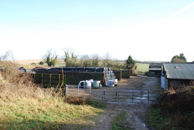 Silage pits in Cranborne Farm