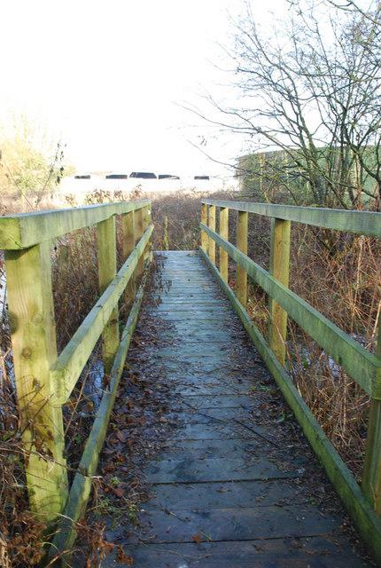 Footbridge at Cranborne Farm