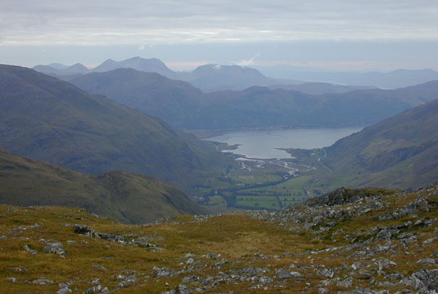 View west southwest from A' Ghlas-bheinn