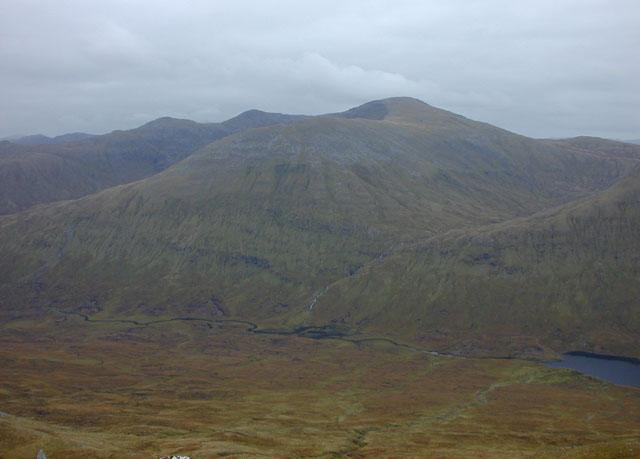 View east from A' Ghlas-bheinn