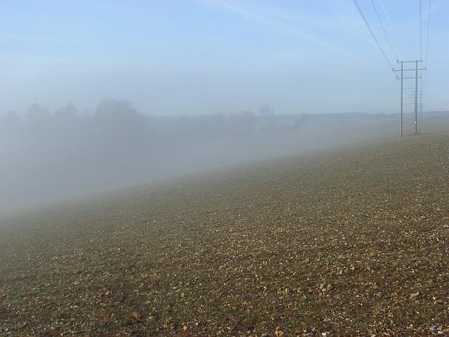 Farmland below Maidensgrove