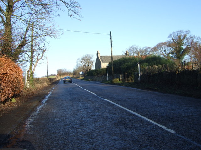 A706 approaching Swordie Mains
