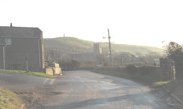 The northern approach to the village of Llanengan