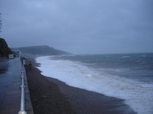West Walk Seaton - Stormy day December 2007