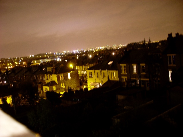 Night view over Glasgow's East End