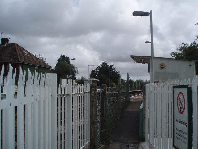 Entrance to Warblington Station