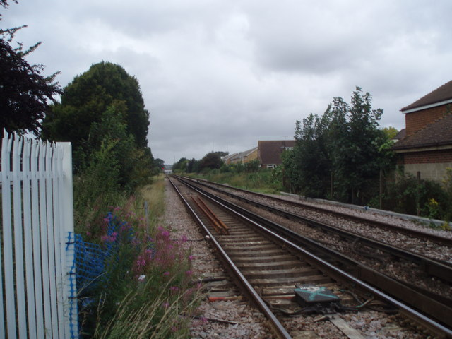Looking down the line towards Havant Station
