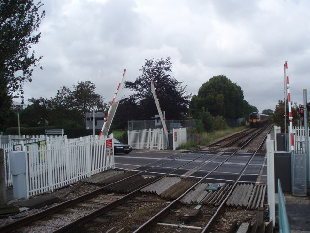 Crossing by Warblington Station