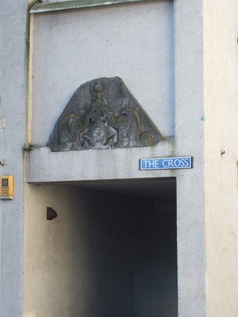 Dated stone (1676) in wall of Cross House
