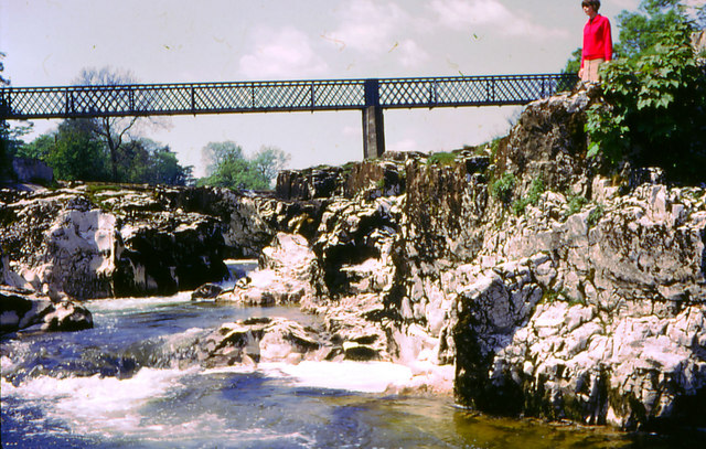 Linton Falls and original Tin Bridge