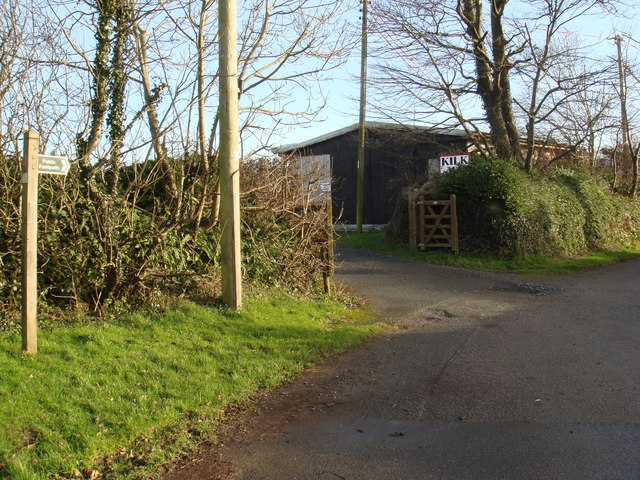 Footpath and entrance to Kilkhampton AFC ground