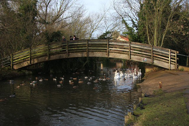 Footbridge over River Lark