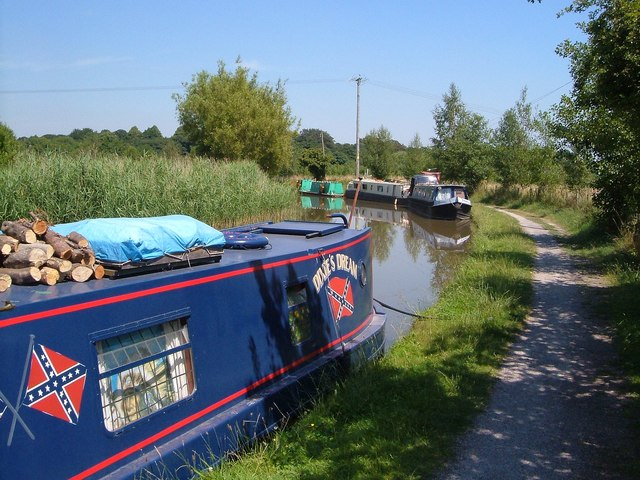 Narrowboats on the Trent and Mersey Canal
