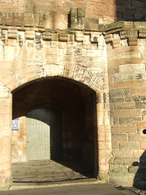 Entrance porch to Linlithgow Palace