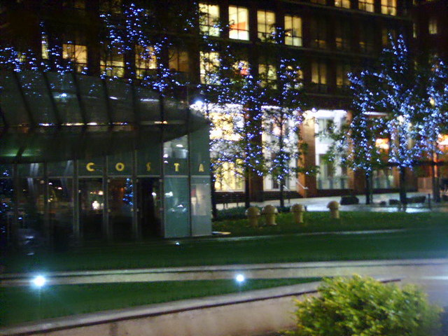 Christmas Lights in Brindley Place