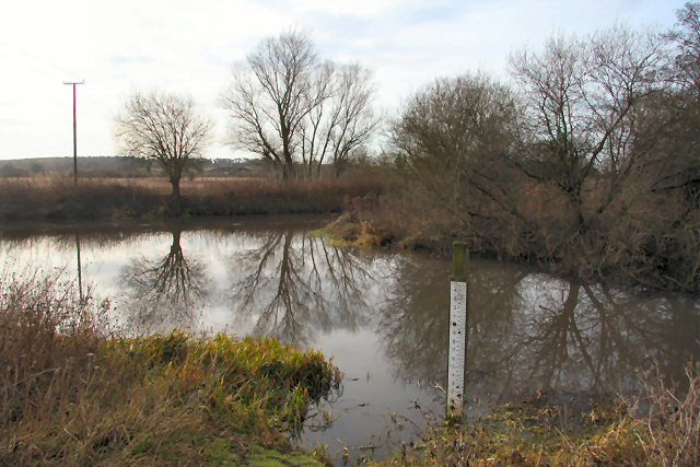 River Lark and junction with the Cut Off Channel
