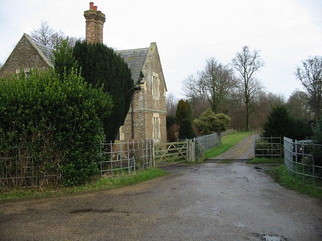 Private road to Goodnestone House