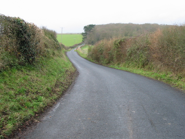 Looking NW along Love Lane