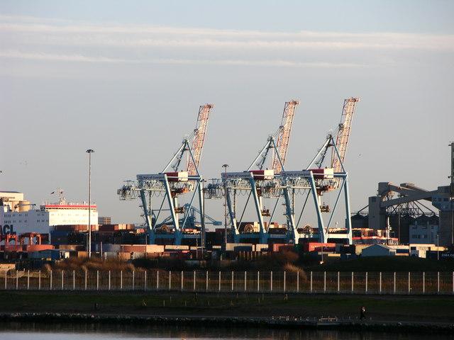 Cranes at Seaforth Dock