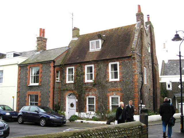 Old fisherman's cottages in Church Street, Shoreham-by-Sea