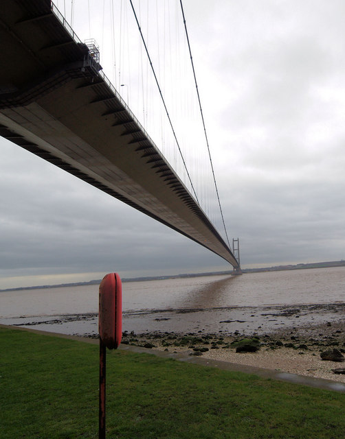 The Humber bridge from the lifeboat station