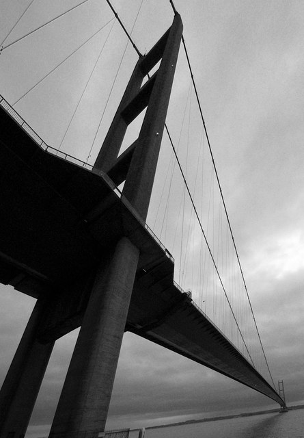 The North pier of the Humber Bridge, Hessle
