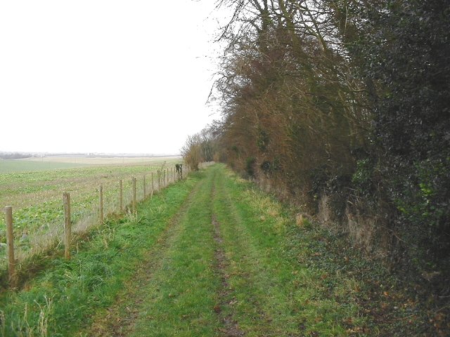 View along bridleway near Goodnestone