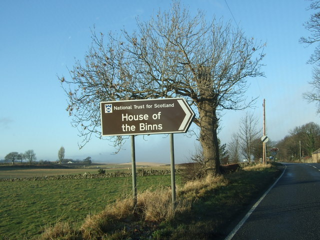 NTS sign for 'House of the Binns'
