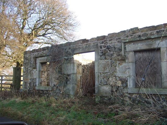 A derelict building in Mannerston