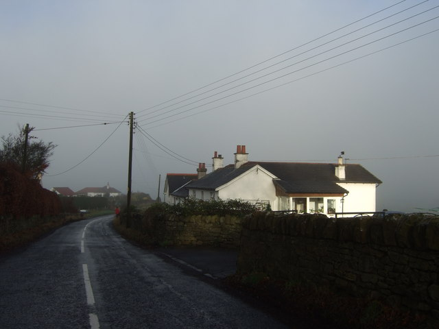 Cottages by the B9109 , Mannerston Holdings