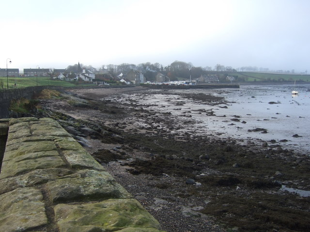 View to Blackness village from the causeway to the Castle