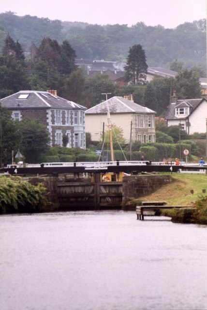 Crinan Canal Lock 4 at Ardrishaig