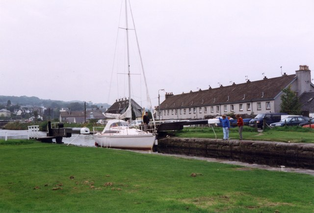 Crinan Canal Lock 3 at Ardrishaig