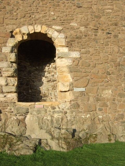 Original main entrance to castle keep