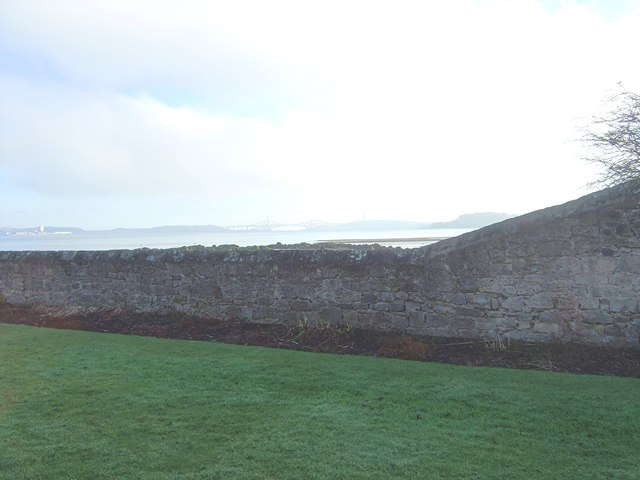 Outer wall of Blackness Castle site