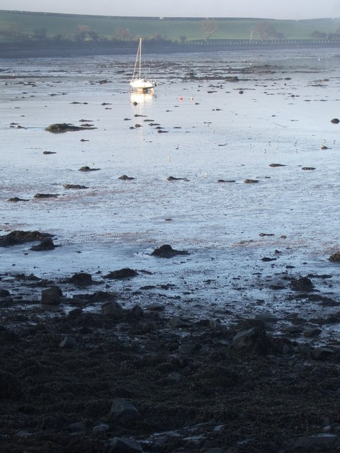 Blackness Bay at low tide