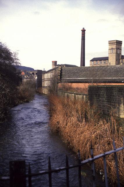 River Colne from Pollard Street South, Milnsbridge