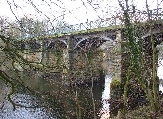 The eastern former railway bridge, Halton