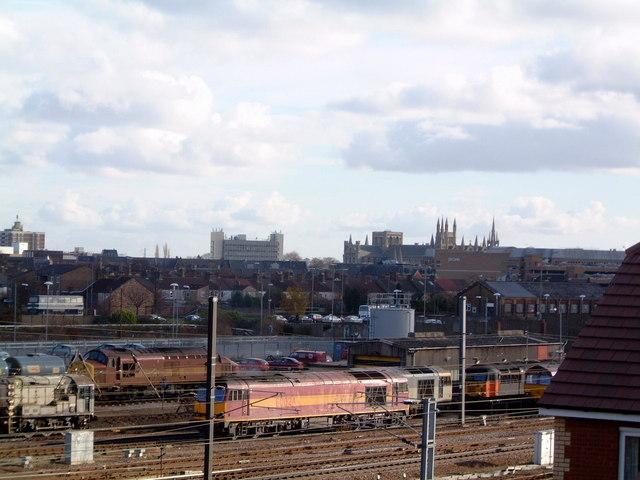 Peterborough railway scene