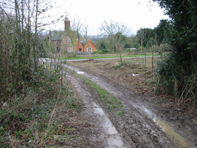 Muddy end to the footpath