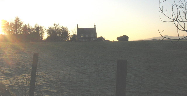 View across towards the farmhouse of Llawr Dref